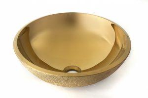 """187287 LAVABO FUTURE GOLD 42.0x42.0x14.0 cm./16.5""""x16.5""""x5.5"""" E350"""