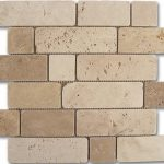 "184996 MOSAICO TRAVERTINO BRICK 30.5x30.5 cm./12""x12"" D541"