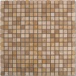 "184997 MOSAICO TRAVERTINO DADOS 30.5x30.5 cm./12""x12"" D688"