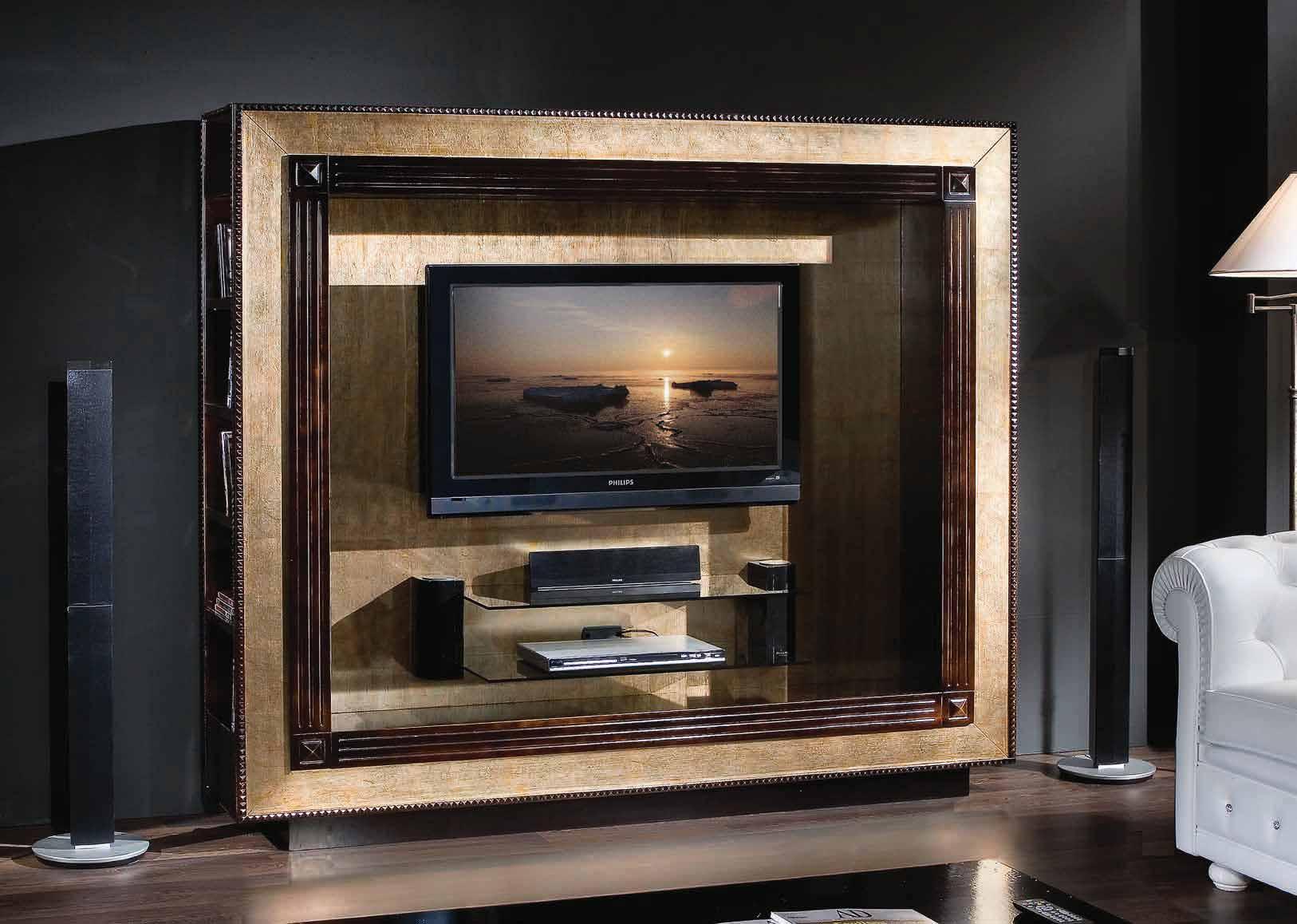 Porta Tv Foglia Oro.Tv Room Dom Classic