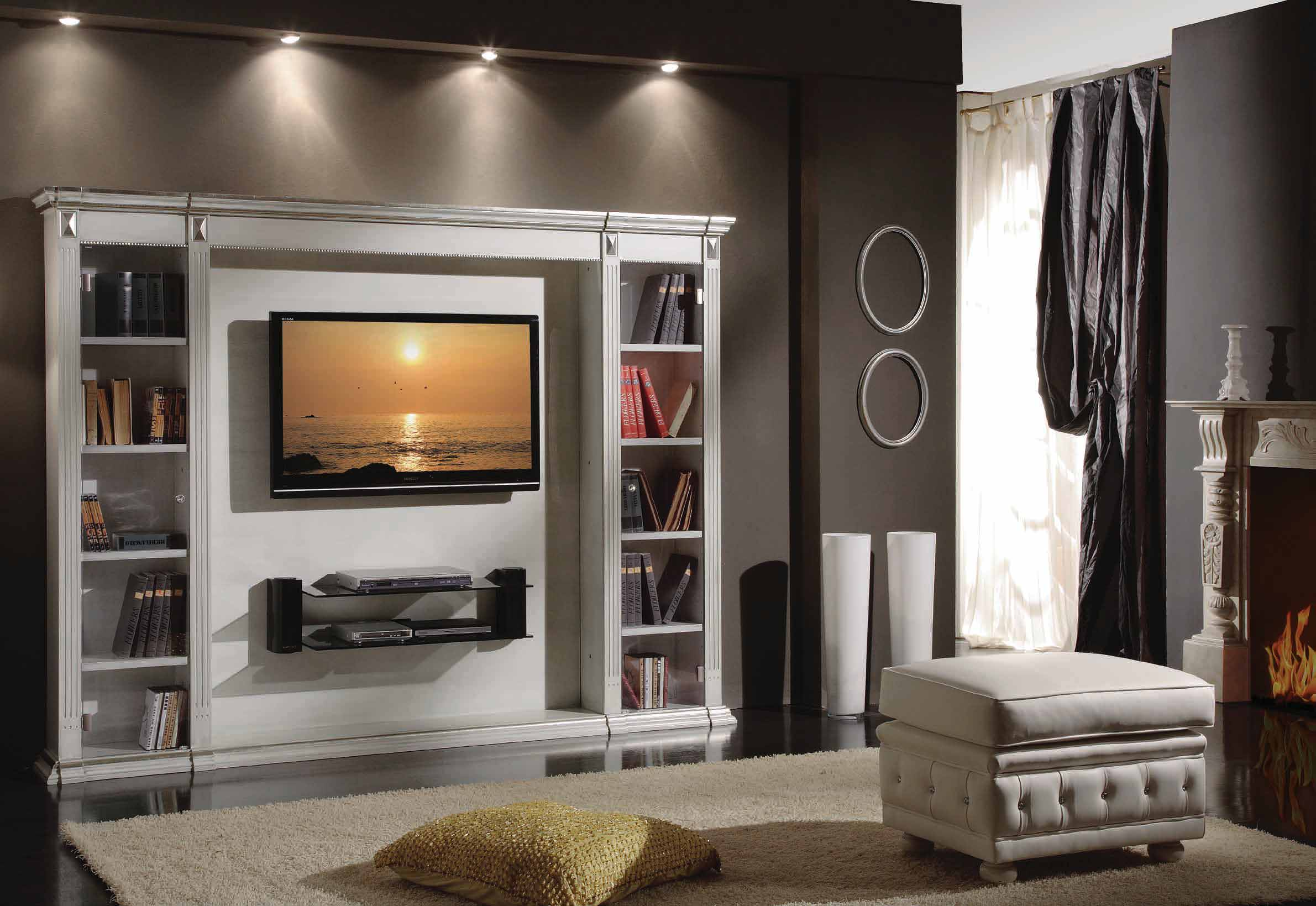 Porta Tv Cristallo Design.Tv Kambarys Dom Classic